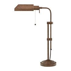 Pharmacy Floor Lamp with Adjusted Pole, Rust Finish/Rust