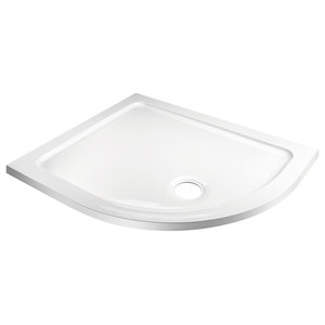 Offset Quadrant Shower Tray Without Riser Kit, 1000x800 Mm, Right Hand