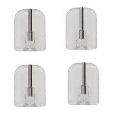 Self Adhesive Hooks Sash Rod Set of 4 - Clear