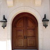Mahogany Arched Impact Doors