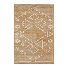 "Kaleen Hand Woven Solitaire Copper Bamboo Silk Rug, 5'x7'9"""