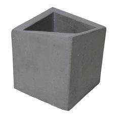 Concrete Square Pot Planter, Set of 2