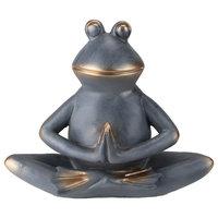 "11"" Frog Sitting In A Sukhasana Yoga Position Garden Statue"