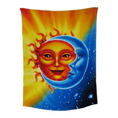 Celestial Sun And Moon Cotton Beach Blanket Towel 54 X 68 in.