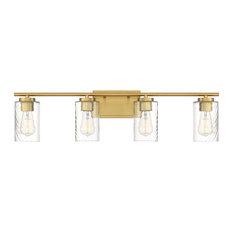 Trade Winds Raymond 4-Light Bathroom Vanity Light in Natural Brass