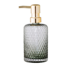 Bloomingville Glass Soap Dispenser, Grey