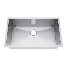 "29""x18"" Single Bowl Undermount Stainless Steel Kitchen Sink, Without Strainer"