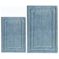 Classic 2-Piece Cotton Bath Rug Set, Powder Blue