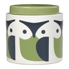 Orla Kiely Green Owl Storage Jar