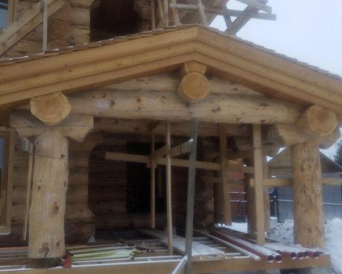 Дом из рубленного бревна кедра диаметром 40 см - Строительство и ремонт