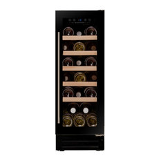 Dunavox 19 Bottle Built In Wine Cooler Fridge, Black