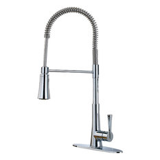 Pfister LG529-MCS Stainless Steel Zuri Culinary Kitchen Faucet, Polished Chrome