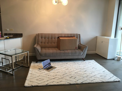 hiding wires & living room furniture