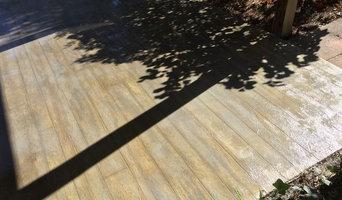 Concrete, or Wood? Patio Transformation.