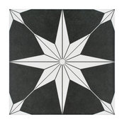 """9.75""""x9.75"""" Cilento Porcelain Floor and Wall Tile, Set of 16, Night"""
