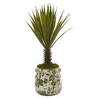 """21"""" Spiky Agave Artificial Plant, Green"""