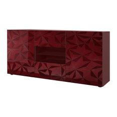 Prisma Decorative Sideboard, 181 cm, Red