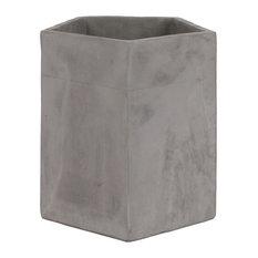 Bissel Cement Pot, Concrete Gray
