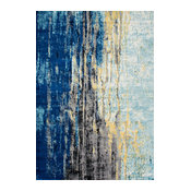 Katharina, Machine Made Area Rug, Blue, 8'x10'