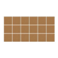 "6""x12"" Mushroom Brown Glass Tile, Half Sheet, Grid"