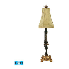 34 Josephine LED Table Lamp In Black And Gold Leaf