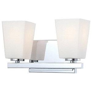 Minka-Lavery City Square Vanity Lights, Chrome