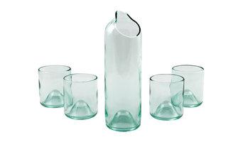 Wine Bottle Carafe Set, Clear
