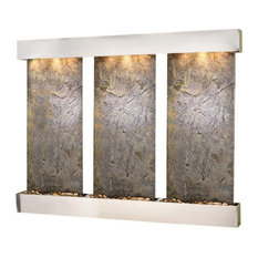 Olympus Falls Wall Fountain, Stainless Steel, Green Featherstone, Square Frame