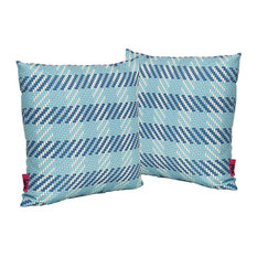 GDF Studio Marquis Outdoor Water Resistant Square Pillow, Set of 2