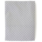 The Little Acorn - Fox Dot Fitted Sheet, Gray With White Dots - A sweet polka dot print percale of grey ground and white dots. Matches the back of the Fox and the Finch quilt and bumper. Perfect for baby boys or girls rooms.