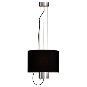Black Fabric Ceiling Light