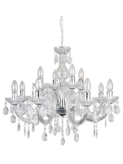 Marie Therese Chandelier 12 Light Chrome Chandeliers