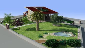 Progetto di giardino privato