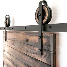 White Shanty   Toby Sliding Barn Door Hardware Set, 5u0027   Barn Door Hardware