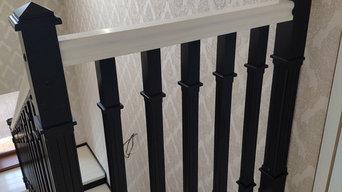 Лестница в контрастном стиле