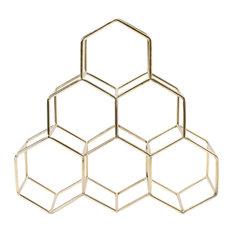 Merl 6-Bottle Wine Rack, Gold