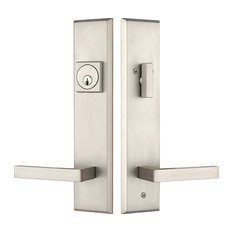 Residence   Delany Entry Door Lock Handleset With Lever, Brushed Nickel   Door  Entry Sets