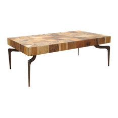 Moes Home - Gajel Coffee Table With Metal Legs - Coffee Tables