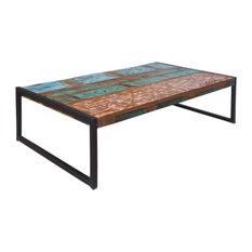 SIT Möbel   Coffee Table In Distressed Metal And Vintage Wood   Coffee  Tables