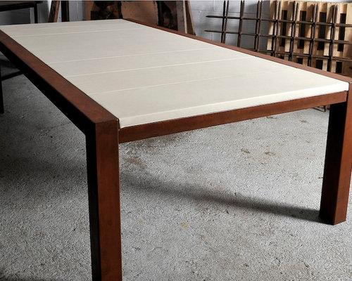 Muebles de acero corten oxidado