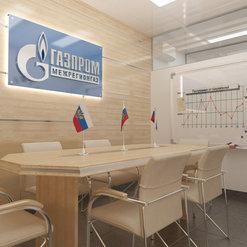 """Дизайн-проект переговорной в Отделении по обслуживанию населения ПАО """"Газпром"""" в"""