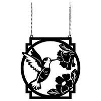 Hummingbird Metal Garden Flag