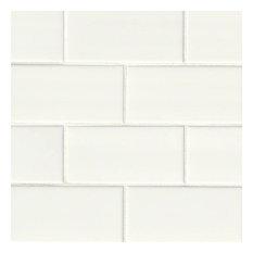 Florence White Subway Tile 3X6, Glossy, Ceramic,