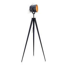 fantasy fields by teamson artiste tripod floor lamp with shade black and gold