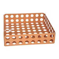 Perforated Steel Napkin Tray, Peach