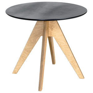 EDI Round Table, Oak and Black