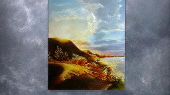 Honey sands canvas, oil, 50 x 70 cm