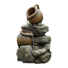 Jeco Inc   Jeco Inc Patio Decorative Small Pots Water Fountain   Outdoor  Fountains And Ponds