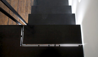 Black Stairs with Rubber & Steel Risers