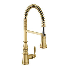 Moen S73104 Weymouth 1.5 GPM 1 Hole Pre-Rinse Pull Down Kitchen - Gold